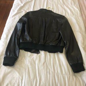Rocco Tuscani Women's Leather Bomber Jacket